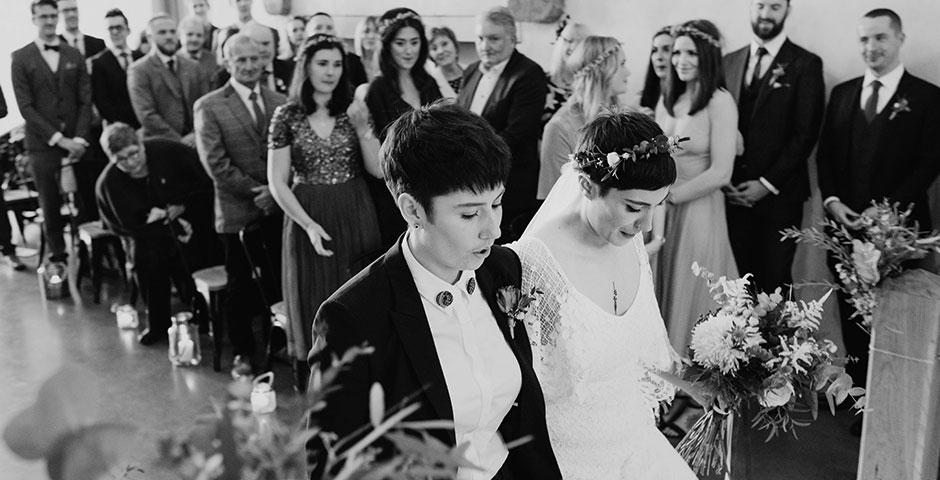 Same sex civil wedding ceremony