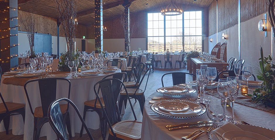 Round Wedding Breakfast Tables for 156