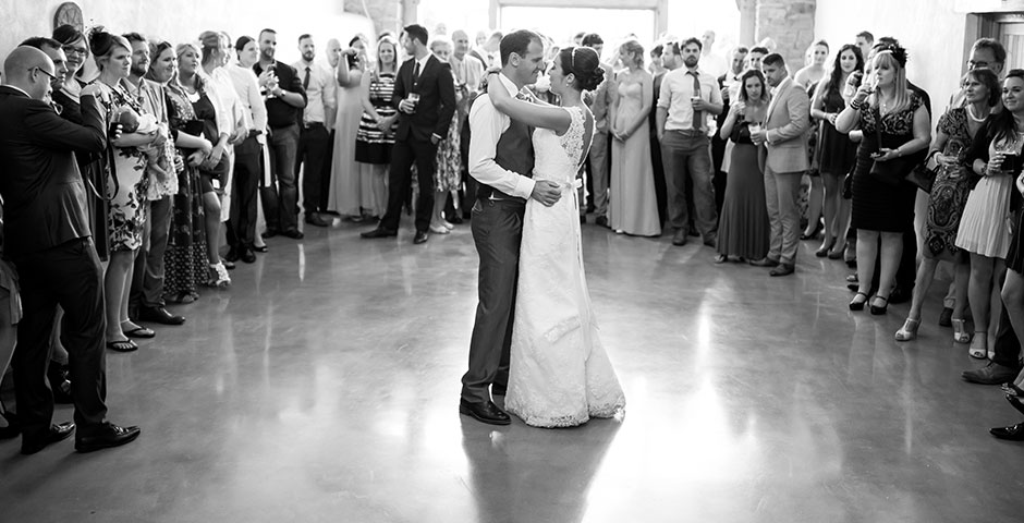 Couple take to the floor for their first dance