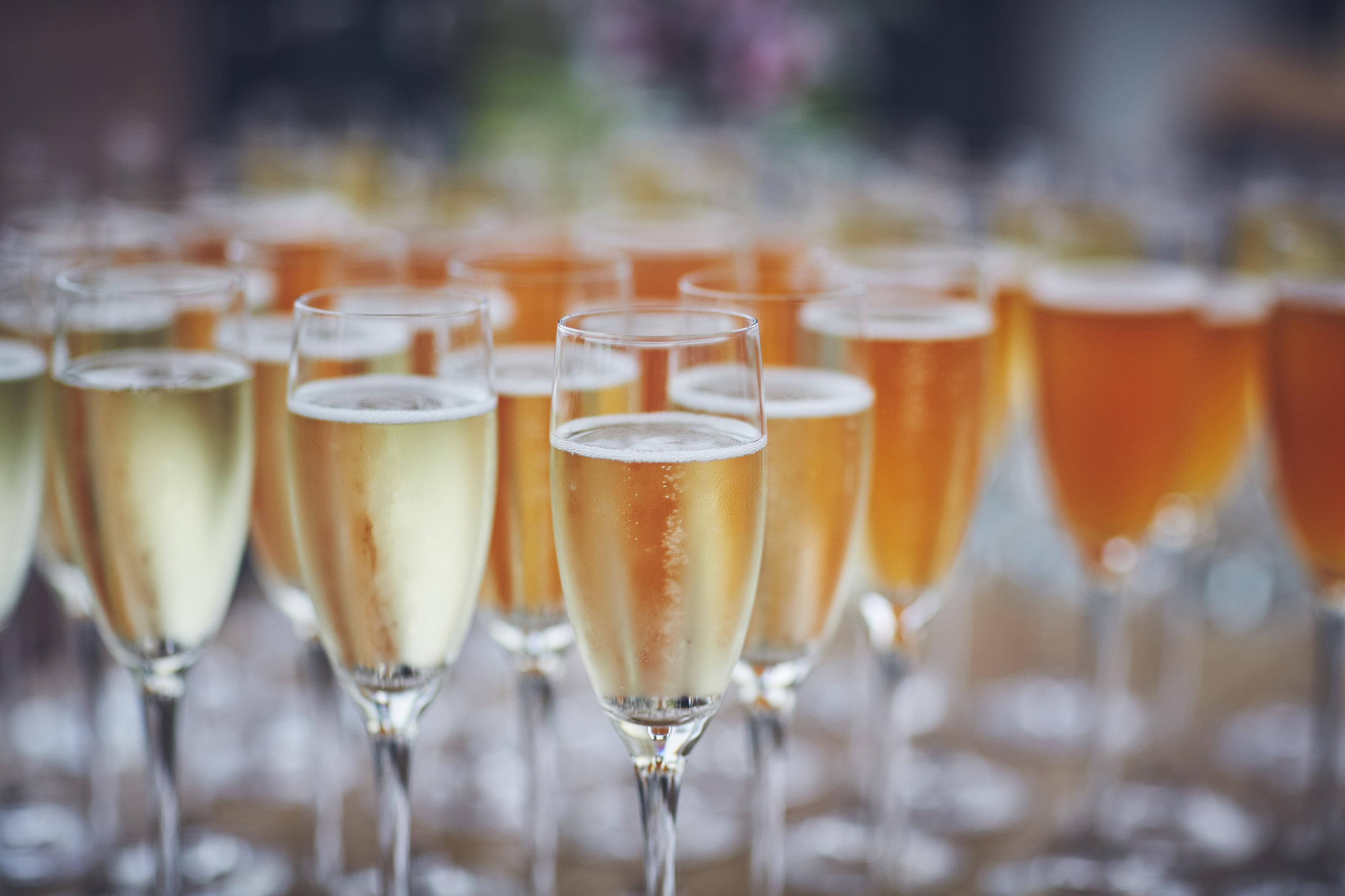Glassses of champagne