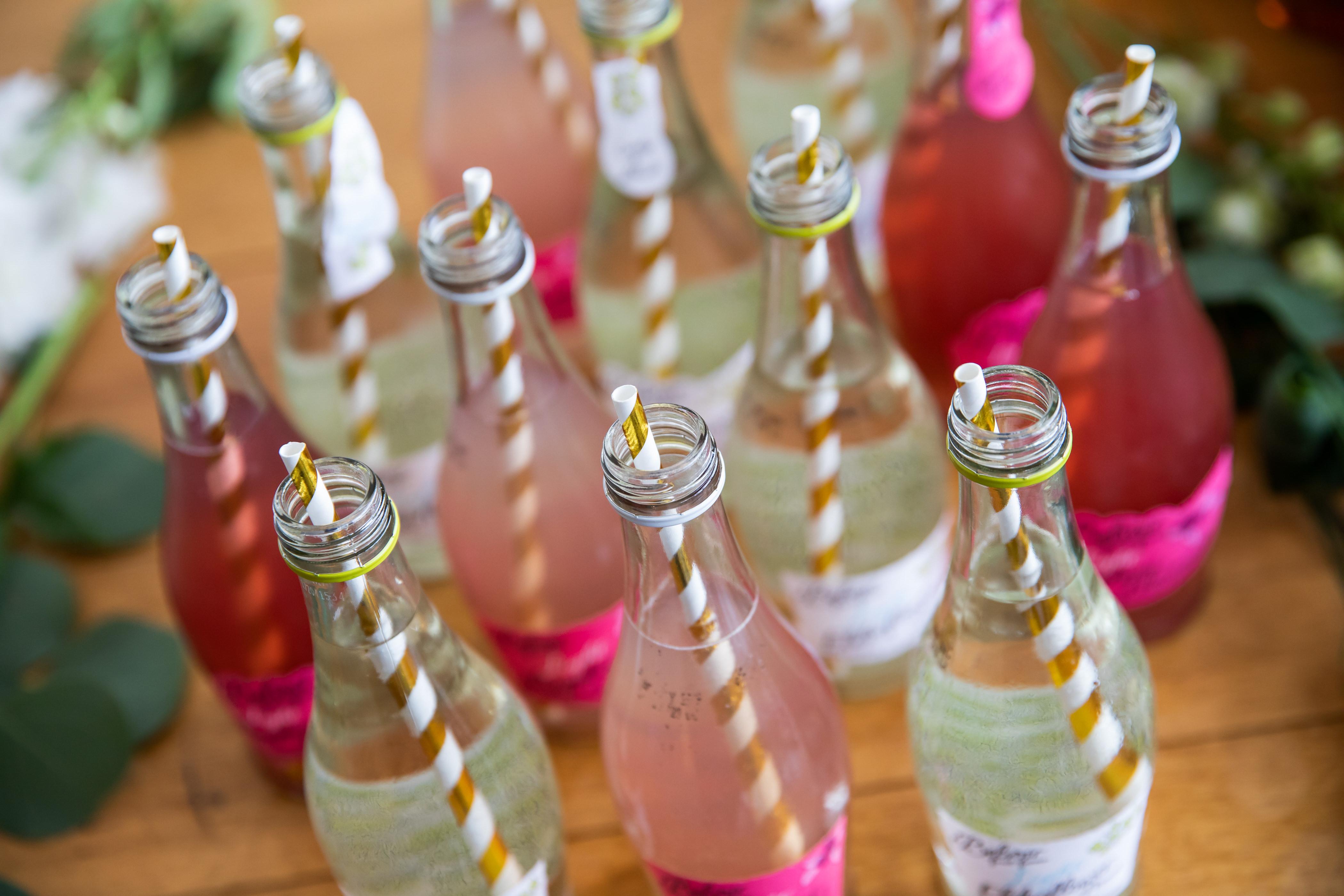 Soft Drinks with straws