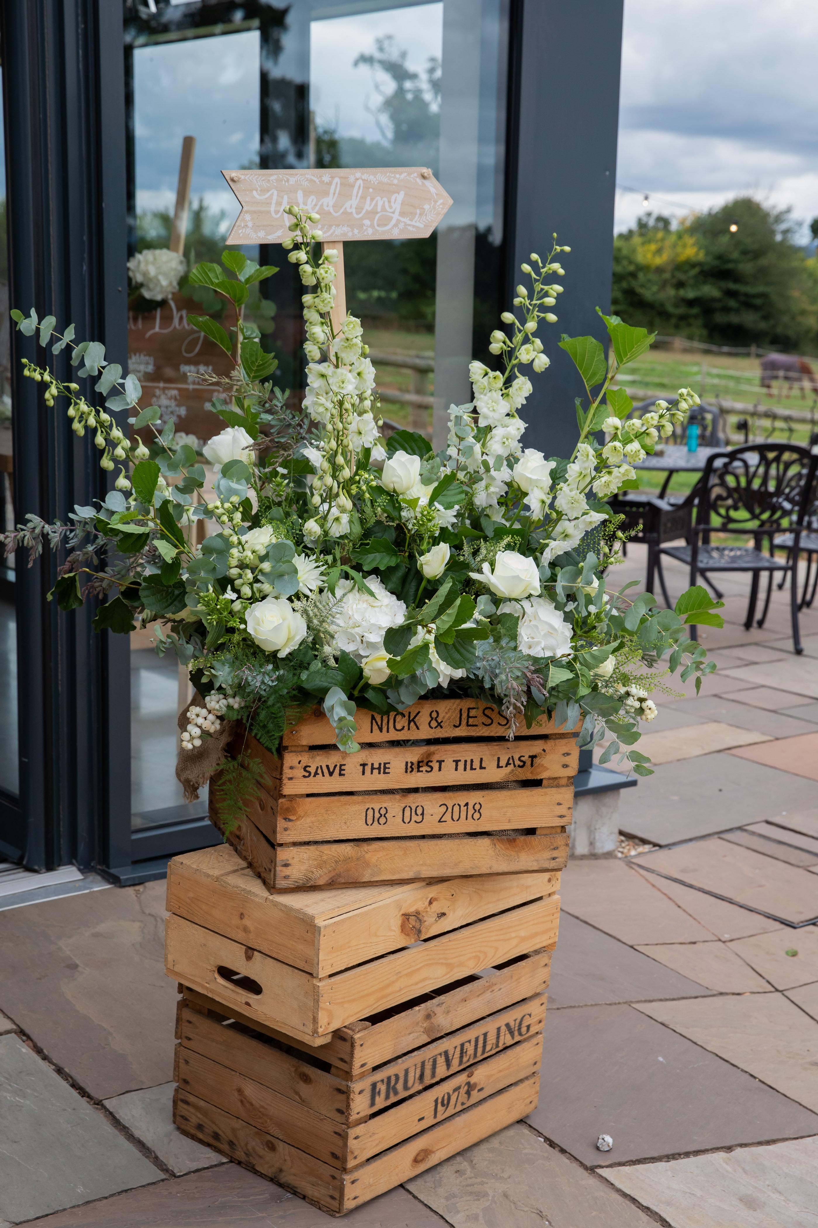 Floral arrangment outside the Press Bar