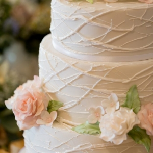 Close up of wedding cake