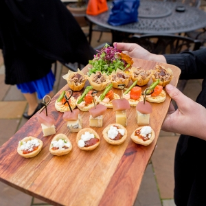 canapes for the guests