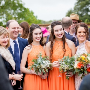 pretty bridemaids in autumnal colours