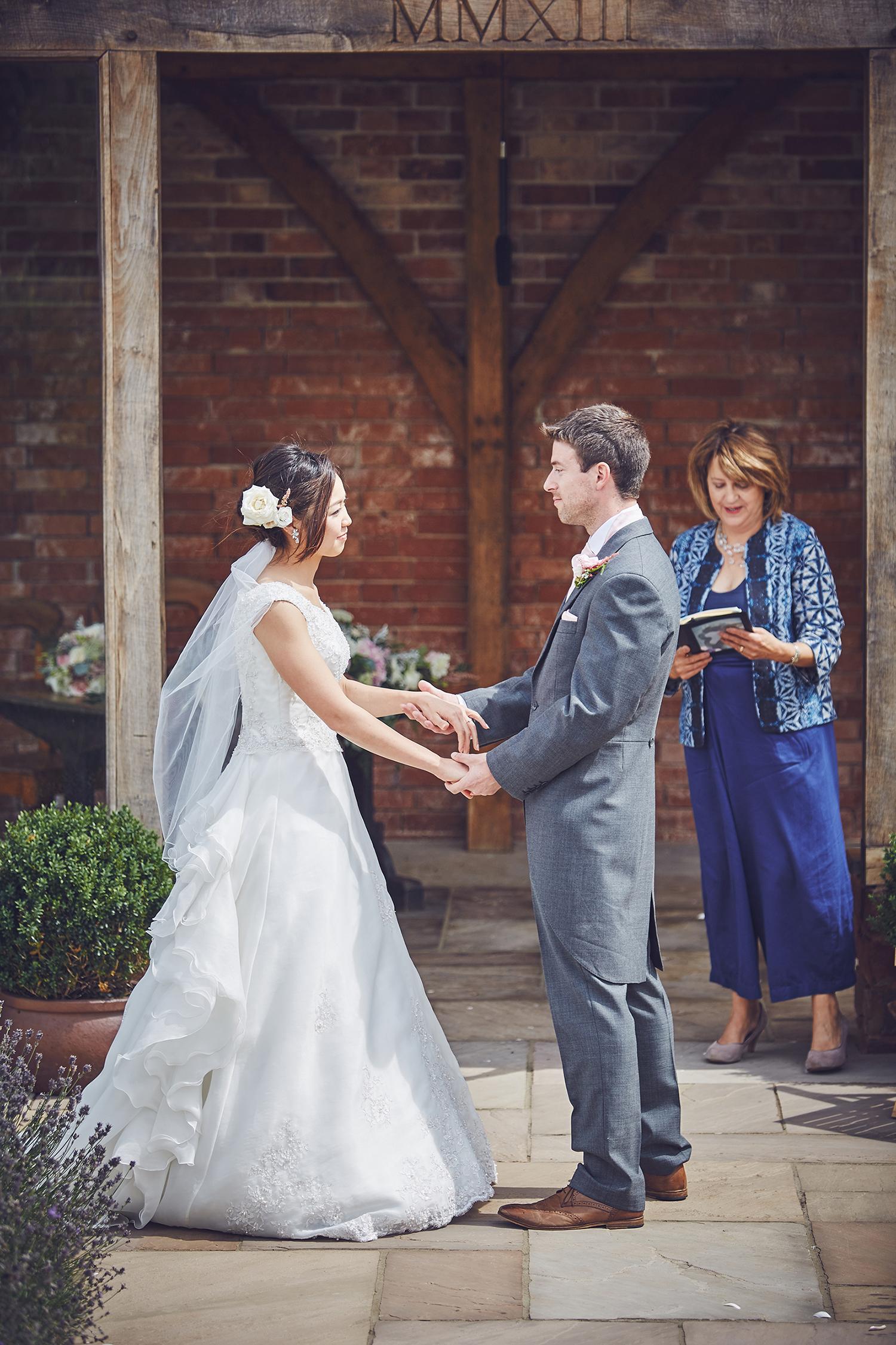 Peter and Misako exchange vows