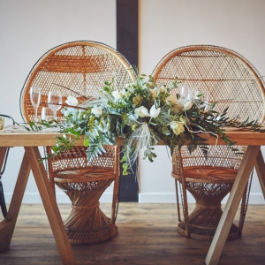 Styled top table chairs
