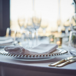 Place Setting with window view in background