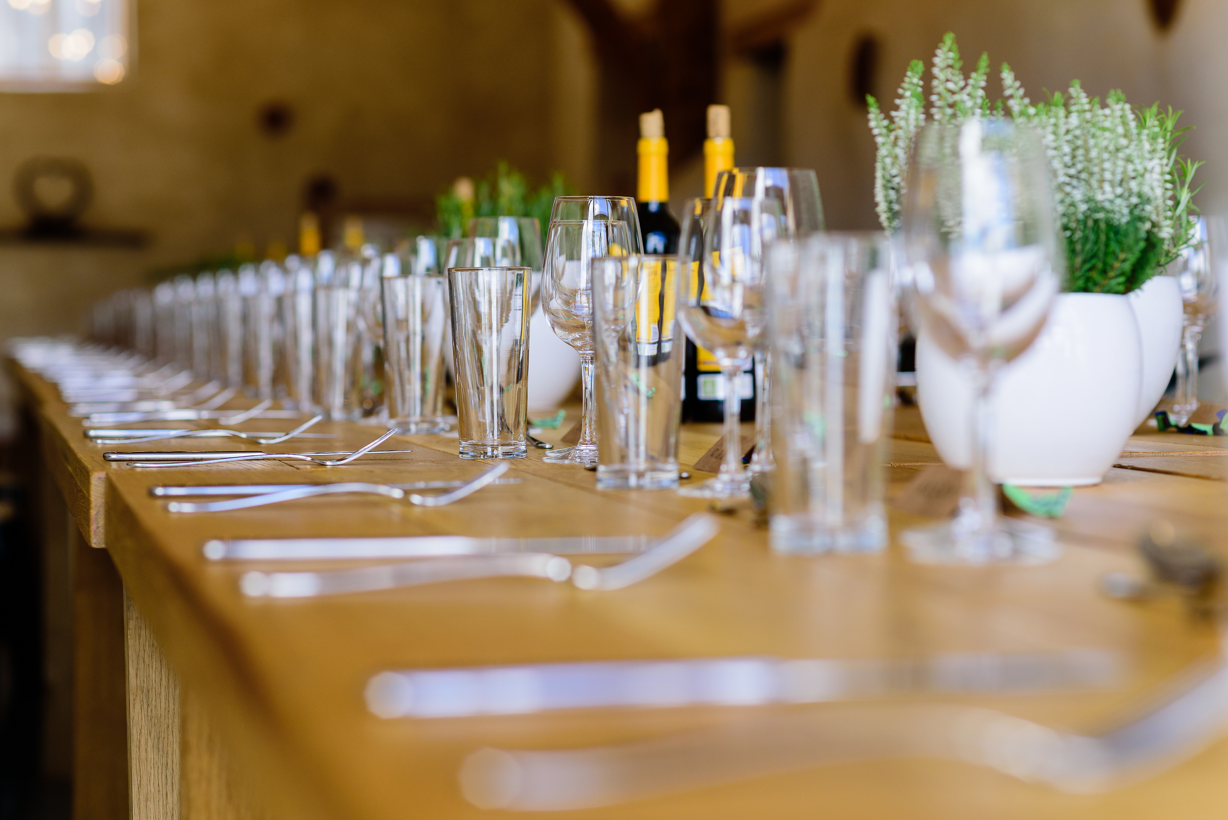 Wedding breakfast long table