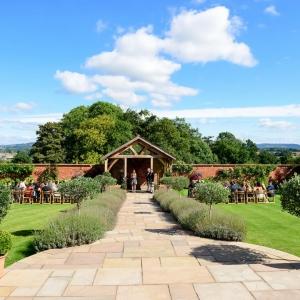 Upton Walled Garden wedding ceremony