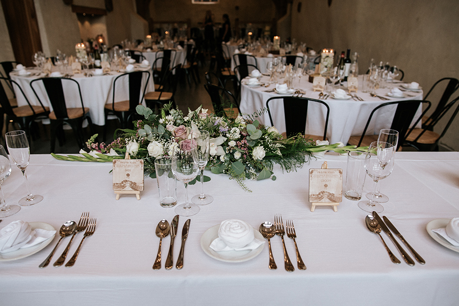 Top table layout
