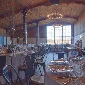 The Stable Barn wedding breakfast set up