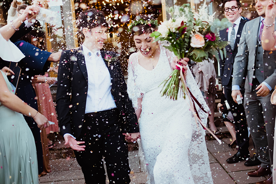 Tamsin & Sonya confetti