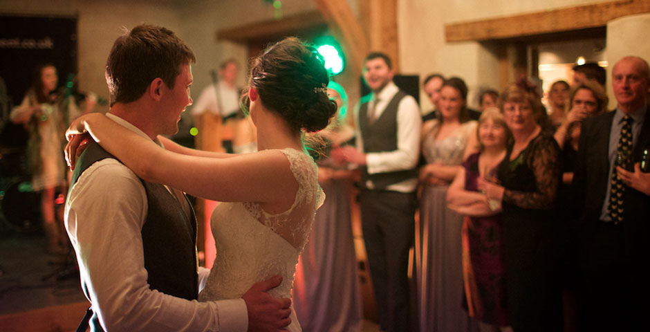 Couple Dance in front of band and guests