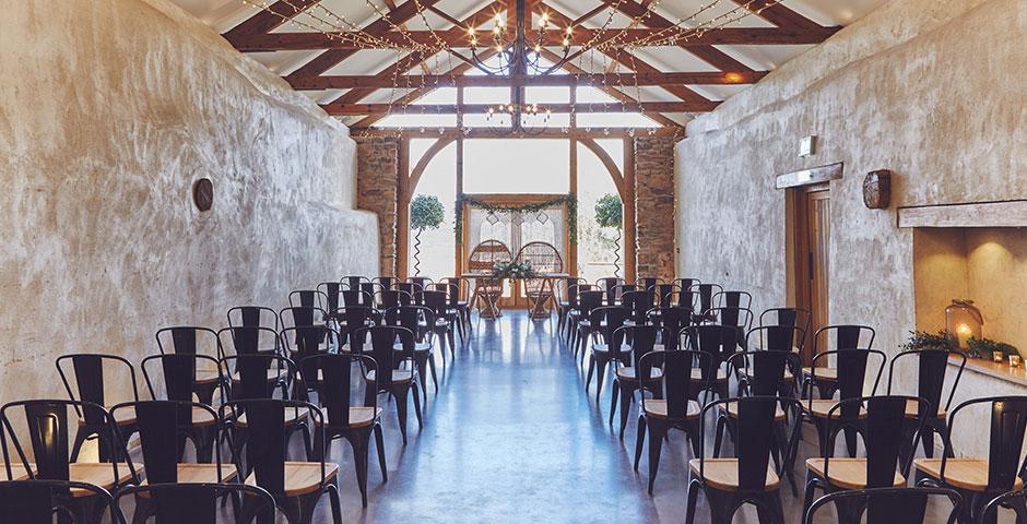 Cider Barn Wedding Ceremony
