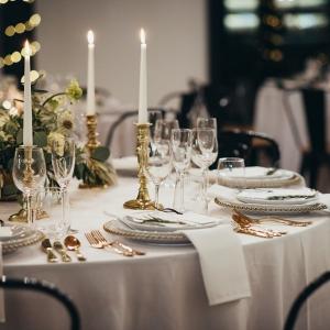 Table setting for wedding breakfast
