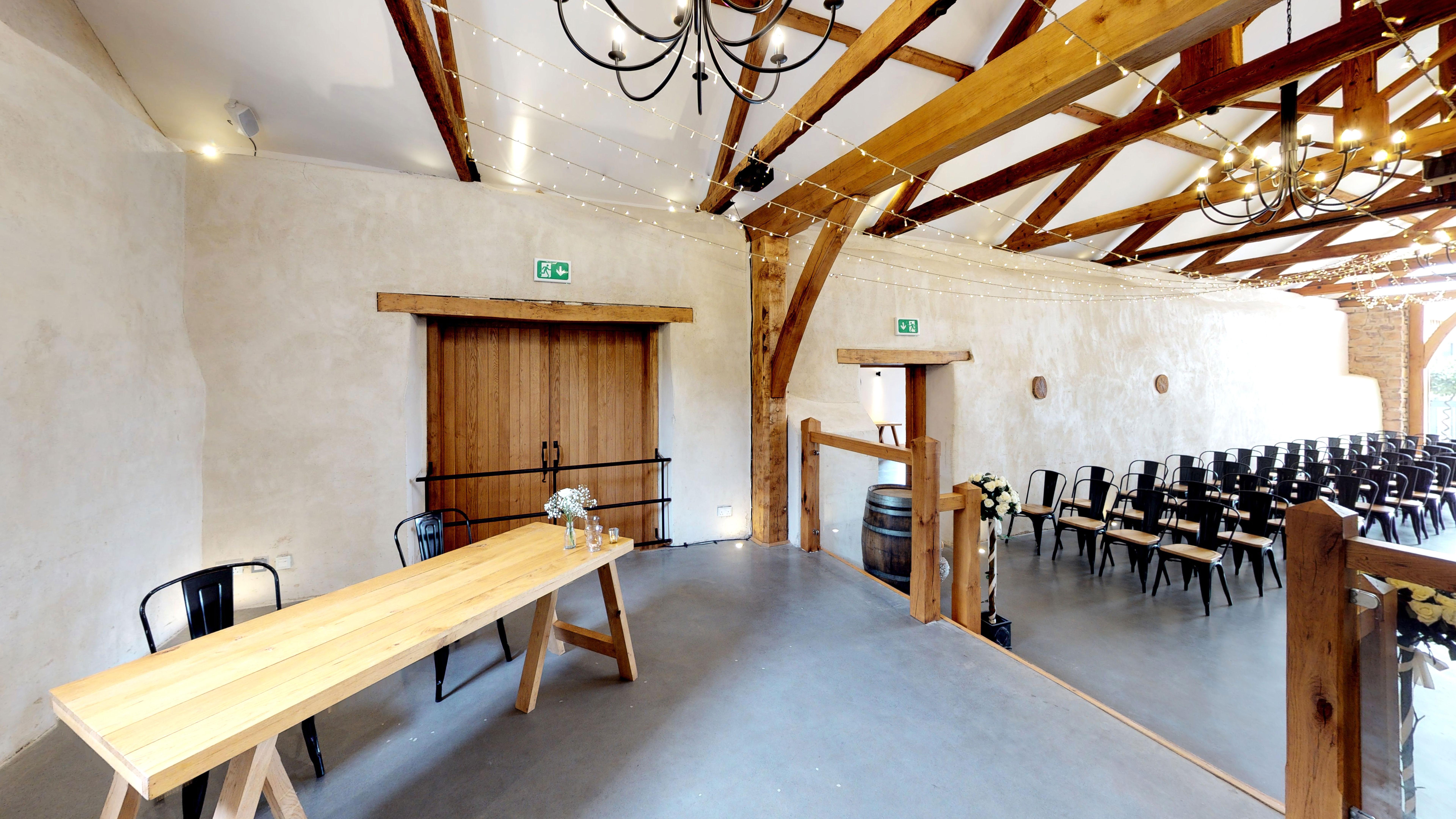 Registry Table in Cider Barn