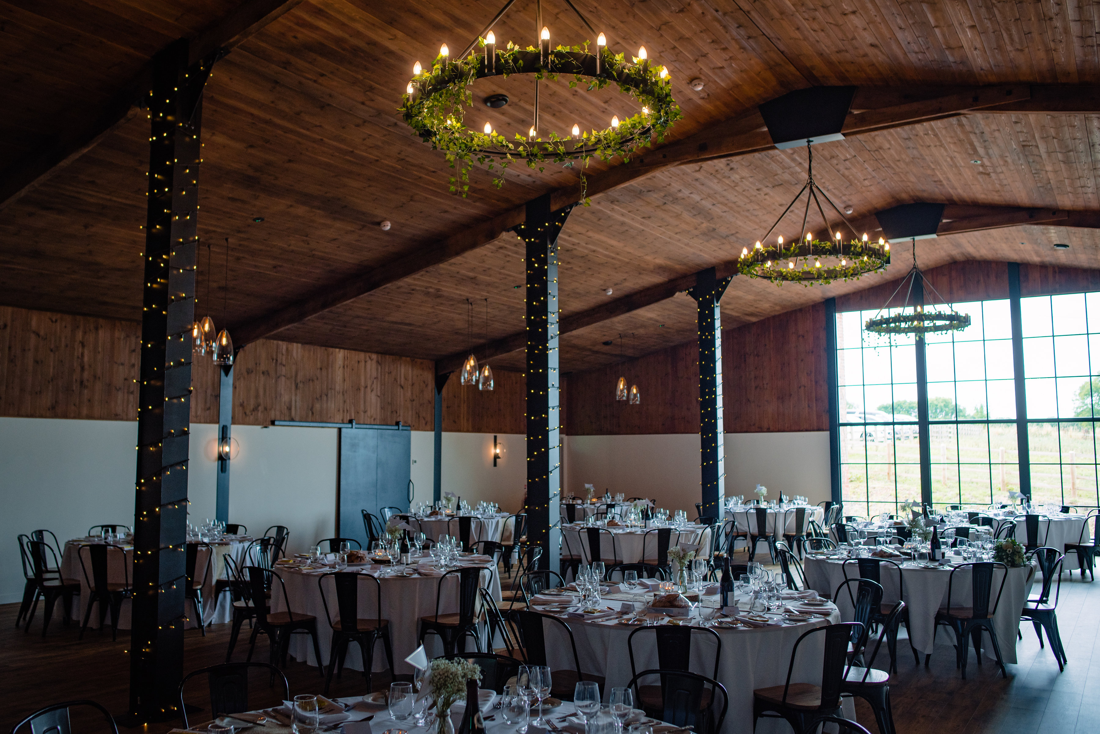 The Stable Barn laid for Wedding Breakfast