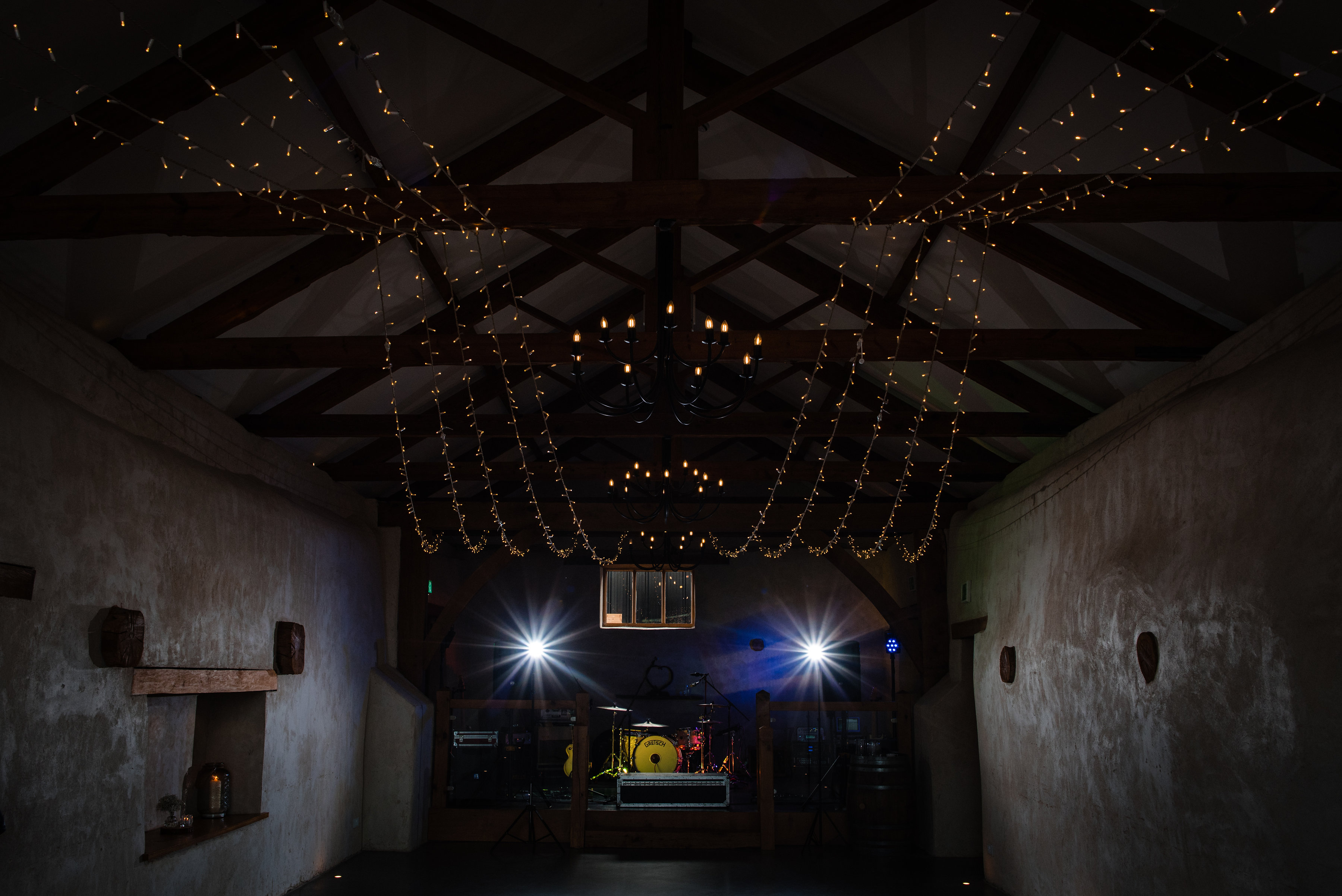 Fairy Lights in The Cider Barn