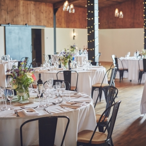 The Stable Barn laid for the Wedding Breakfast