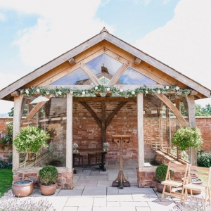 The arbour of Upton Barn & Walled Garden