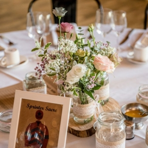 Wedding breakfast table named after racehorse