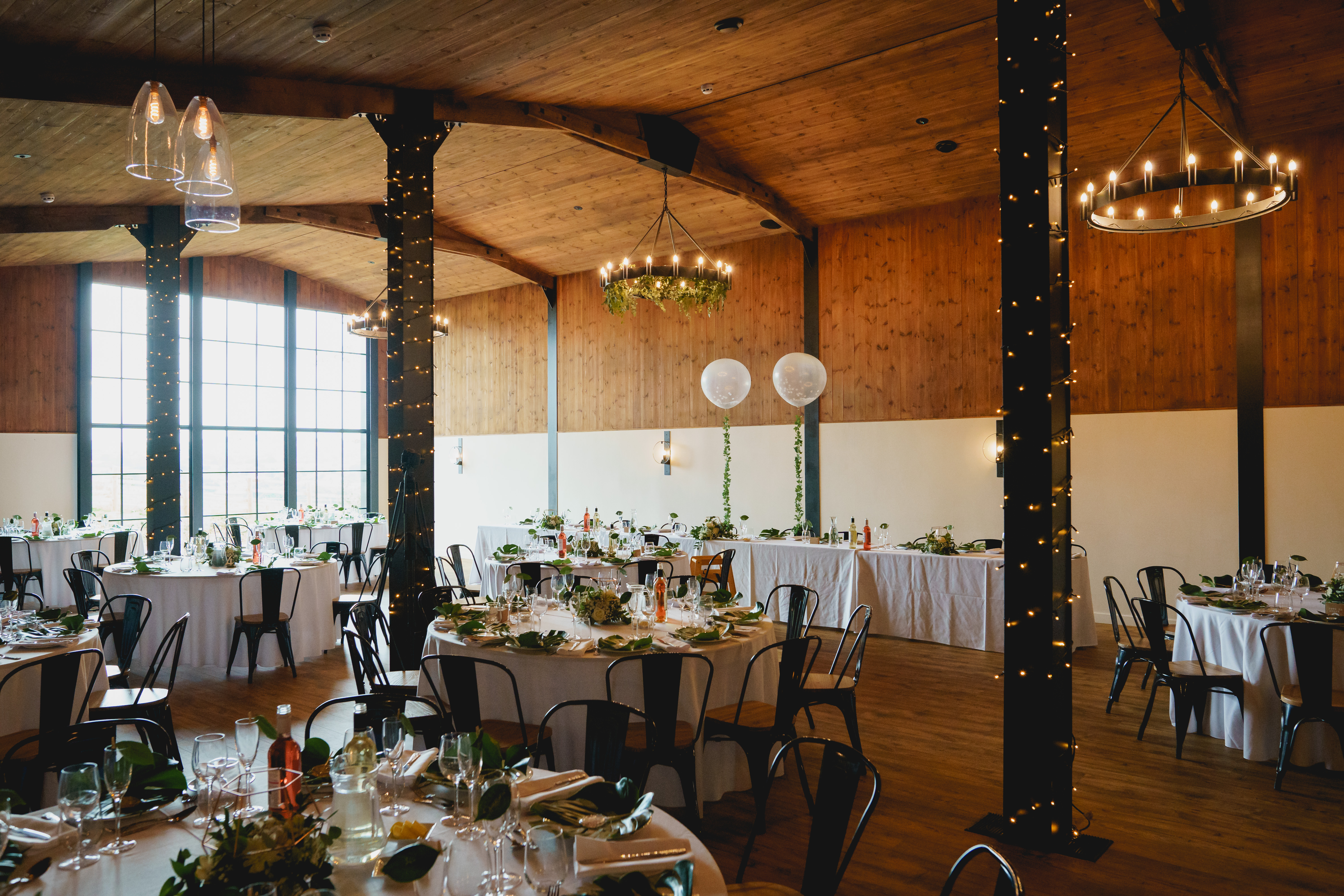 The Cider Barn dressed for a Wedding breakfast