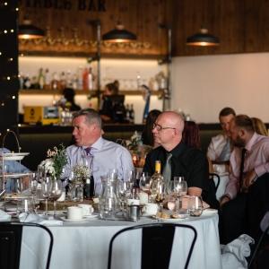 Guest enjoy a high tea at Upton Barn & Walled Garden
