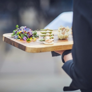 Close up of canapes served at Upton Barn & Walled Garden