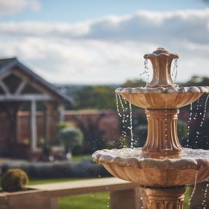 Upton Barn Fountain in the Waled Garden