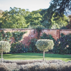 View of the walled garden at Upton Barn Wedding Venue