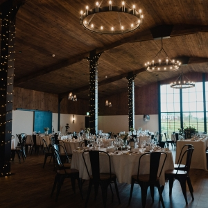 The Stable Barn at Upton dressed for a Wedding Breakfast