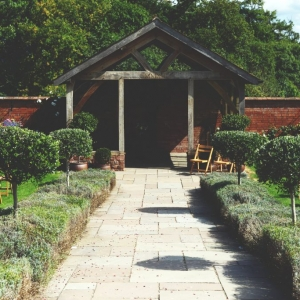 The Arbor in full sun at Upton Barn & Walled Garden
