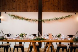 garland, wedding, top table