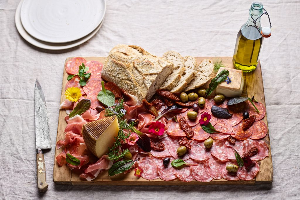SharingPlatter of meats and cheeses
