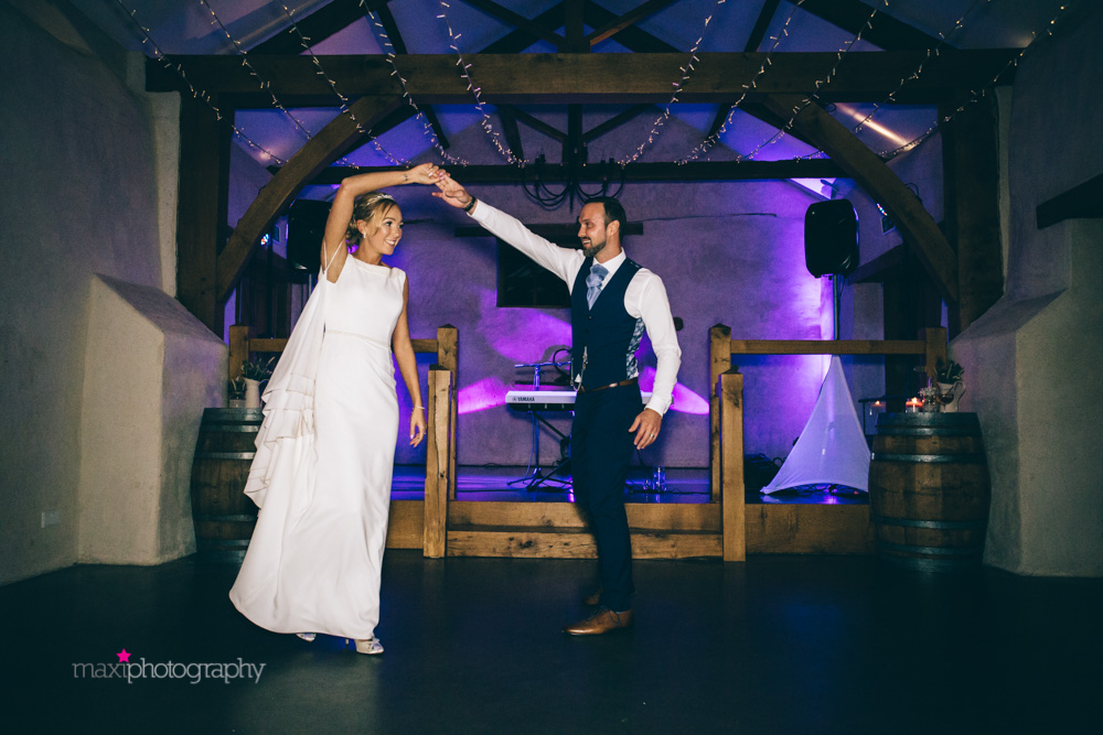 Bride and groom perform first dance