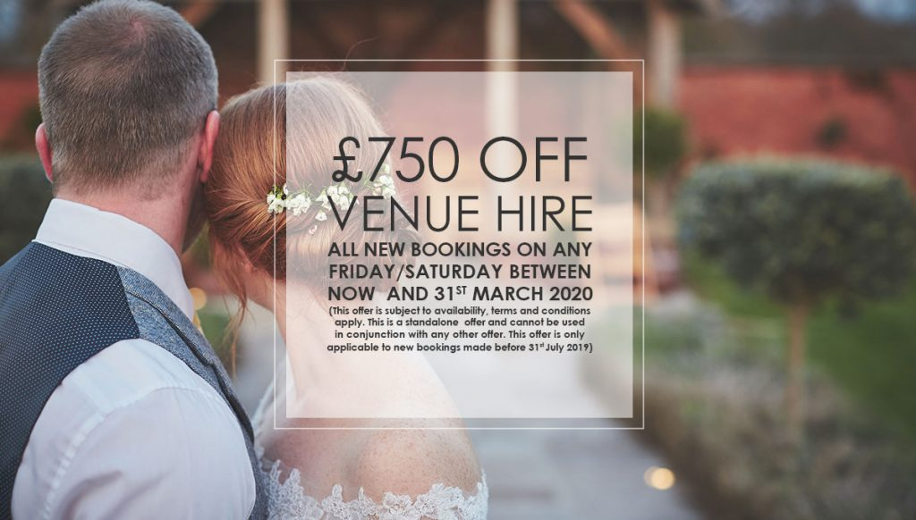 £750 July Venue Hire Offer