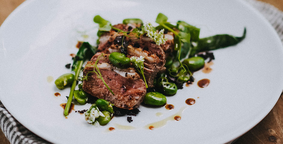 Lamb, wild garlic and broad bean
