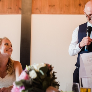 Brides fatherr delivers his speech