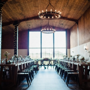 The Stable Barn wedding breakfast set up