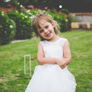 Flower girl in the walled garden