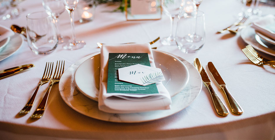 Wedding Breakfast place setting
