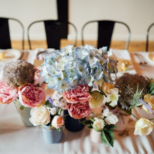 Wedding flowers on the table