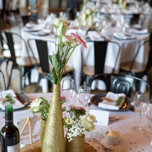 Close up of Wedding Breakfast table centrepiece
