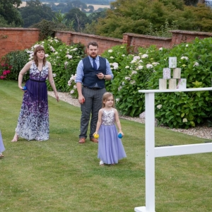 Guest play a tin shy game in the Walled Garden