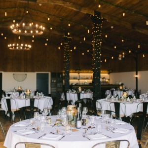 The Stable Barn at Upton Barn set up for a Wedding Breakfast