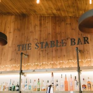 The Stable Barn Bar drinks and glasses display