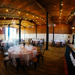 The Stable Barn laid for a Wedding Breakfast