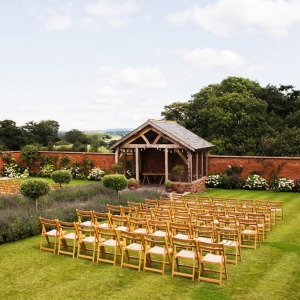 Upton Barn Walled Gardens Arbour dressed for a wedding