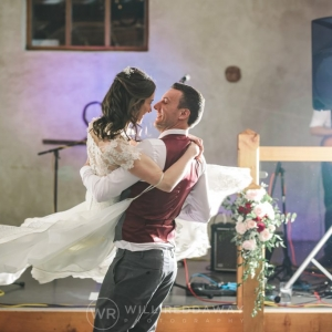Bride and Groom perform choreographed wedding dance